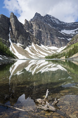 Lake Agnes (mark willocks) Tags: park lake canada mountains reflections national banff lakelouise alpinelake lakeagnes bigbeehive