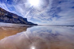 A beautiful peace (pauldunn52) Tags: heritage wales stairs reflections coast sand cliffs glamorgan whitmore