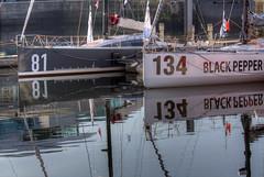 TransAt Yachts 30th April 2016 #6 (JDurston2009) Tags: reflection sailing yacht plymouth barbican devon 81 134 sailingboat suttonharbour transat transatbakerly