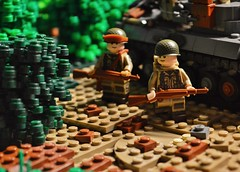 1944 (~J2J~) Tags: tank lego scene american ww2 airborne minifigures mru brickarms minifigsrus