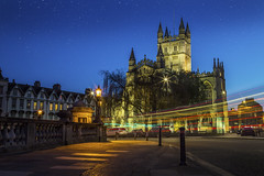 Bath Abbey at sunset with traffic trails (Daz Smith) Tags: city uk blue sunset portrait people urban streets abbey night canon lights bath long exposure traffic candid citylife thecity streetphotography trails strs canon6d dazsmith