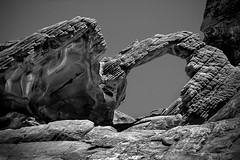 Arch (evanffitzer) Tags: blackandwhite bw valleyoffire rock stone outdoors photography mono arch photographer lasvegas nevada erosion formation geology brilliant geologic canoneos60d evanffitzer evanfitzer