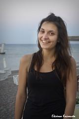 Rodos beach (Eleanna Kounoupa) Tags: street sea woman water portraits islands greece beaches rodos      dodecaneseislands