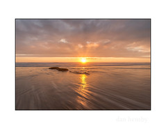 Sunset reflections (danjh75) Tags: sunset seascape clouds reflections nikon watergatebay cornwall ngc tides
