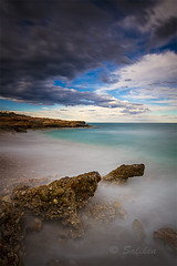 tres playas 02 (Santiago Vidal - Saliken) Tags: longexposure sea seascape beach canon mar sigma playa cielo nubes 7d nd filtros largaexposicion sigma1020 alcossebre tresplayas