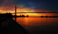 A Motown Sun Greeting... (Malena ) Tags: sunrise detroit michigan downtown city