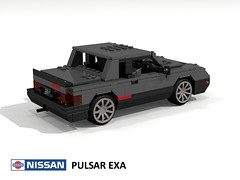 Nissan Pulsar EXA Turbo N12 (lego911) Tags: nissan datsun pulsar exa turbo n12 1982 1980s coupe sport auto car moc model miniland lego lego911 ldd render cad povray japan japanese jdm lugnuts challenge 104 thescienceofitall science astronomy star