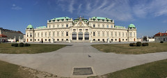 schloβ belvedere panorama with viennese pigeon (for sedge808) (Seakayem) Tags: vienna panorama austria pigeon cellphone belvedere schlossbelvedere iphone6 iphonecell