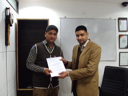Gaganpreet Singh Receiving Australia Study Visa From Director