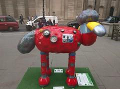 Shaun in the City: #42: Robo-Shaun (asw909) Tags: sculpture london art cityoflondon aardman shaunthesheep shauninthecity