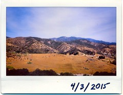 The Saddleback from Vulture View (EmperorNorton47) Tags: california foothills mountains digital photo spring afternoon pasture instantphoto portolahills fujiinstaxwide whitingranchwildernesspark fujiinstax210 vultureview