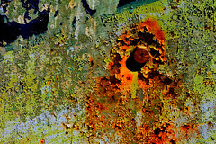 Door 113 (Glassholic) Tags: door abstract color colour rust peeling paint rusty peinture couleur rouille abstrait graphisme graphism caille