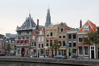 De Waag and houses along the Spaarne