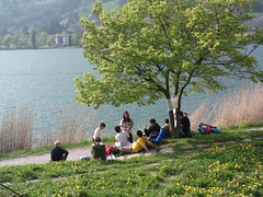 Relax sul lago d'Endine a fine tappa