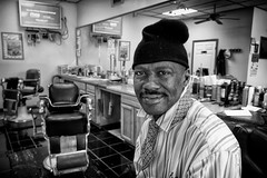 Barrick The Barber (alanroseman) Tags: city portraits northcarolina antiques selma streetportraits barrick northnorthcarolina barrickcoley