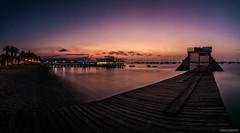 Una noche sin ti - (a night without you) (clandestinox21) Tags: longexposure nightphotography blue sunset sky beach