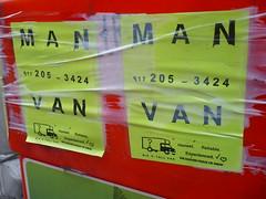 Man with a van (c_nilsen) Tags: signs digital advertising newjersey jerseycity digitalphoto