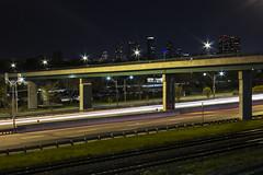 (...Iwonttell) Tags: longexposure nightphotography bridge toronto highway lighttrails gardiner humber