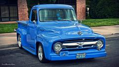 (True Mendez Foto (aka Darkhorse68)) Tags: ford 1955 canon flames pickup f100 carshow 40d manuelmendez truemendezfoto