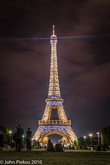 The Eiffel Tower (John Piekos) Tags: travel vacation holiday paris france night lights spring nikon europe eiffeltower d750 sparkling nationaltreasure