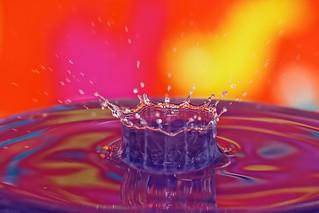 Impact of a drop of water - Impact d'une goutte d'eau