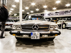 Classic Mercedes (Sam Bow) Tags: auto light classic car night germany mercedes benz gallery fair relection fujifilm classy xf1