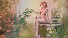 Spring Fantasy (Anita Armendaiz) Tags: life flower hair spring doll dress furniture free coco fantasy gift second collaborative liaison dva cila gacha kalopsia