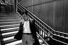 Man (Jiajun Yang) Tags: street people bw blackwhite candid streetphotography gr monochrone