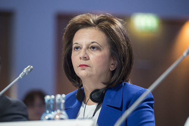 Marina Chrysoveloni at the Closed Ministerial Session