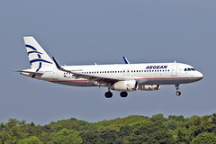 """SX-DGZ Airbus A.320-232SL Aegean Airlines MAN 03-06-16 (PlanecrazyUK) Tags: man manchester 030616 ringway egcc airport"""" aegeanairlines """"manchester airbusa320232sl sxdgz"""