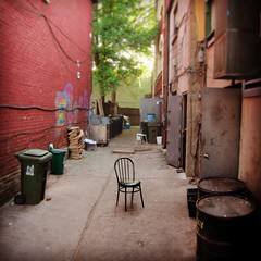 Lonely Chair (Michael Mitchener) Tags: streetfurniture backlane gerrardindiabazaar michaelmitchenercom