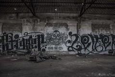 Graffito (NoSound Photography) Tags: bw streetart color art skull graffiti nikon paint hangar nb peinture urbain fresque urbex nosoundphotography