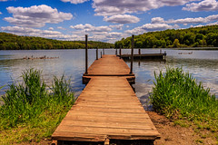 Old Pier (david_sharo) Tags: lake nature water clouds landscape scenic moraine neutraldensityfilter davidsharo