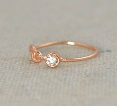CZ Diamond Infinity (alaridesign) Tags: rose by gold infinity knot ring diamond mothers filled rings april cz birthstone stackable alaridesign