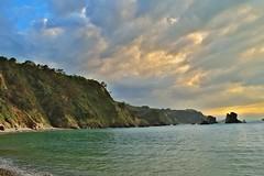 Cantbrico (thoskar) Tags: sunset sea costa nature landscape atardecer mar spain nikon rocks asturias playa rocas d3300