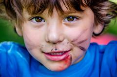 Puppy Dog Face Paint (jlr_keys) Tags: family blue boy red childhood kid colorful bright vivid colorsinourworld