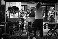 P1010349 (yann CM B) Tags: city summer people blackandwhite oslo norway kids 35mm town market streetphotography panasonic blackdiamond grnland osloeast gx80 blackwhitepassionaward