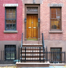 Front door (1839), 180 Waverly Place, Greenwich Village, New York City