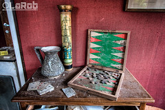 Card & board games (LaR0b) Tags: urban house game abandoned home cards lost decay exploring vase boardgame exploration maison hdr highdynamicrange backgammon ue urbex castafiora lar0b