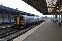 153382 (matty10120) Tags: dog train box railway class devon newton abbot 153 sprinter