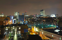 03 Scenic - Manchester at Night (manxmaid2000) Tags: city uk england urban skyline architecture night manchester lights cityscape nightscape piccadilly wheelofmanchester