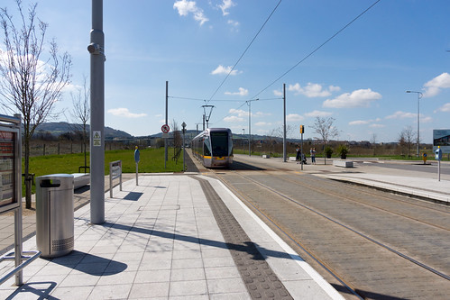 LUAS TRAM STOP IN CITYWEST [APRIL 2015] REF-103233
