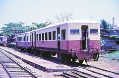 Once upon a time - Thailand - Ban Laem (railasia) Tags: thailand eighties scrap infra coaches srt teikoku samutsakhon metergauge banlaemstation maeklonglines