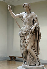 Thalia, Muse of Comedy, 1st cent. Roman (Monopthalmos) Tags: thebritishmuseum thalia chiton marblestatue maenad pedum himation godpan museofcomedy greekmuses