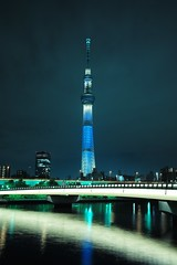 L1006424 (Zengame) Tags: leica japan architecture night tokyo illumination landmark illuminated clear  clearsky iki leicam  skytree   tokyoskytree  typ240 m