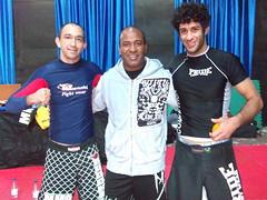 Cleyton Bastos, Rafael Cordeiro y Mathias Ribeiro en Madrid 14-01-2010 Seminario Werdun