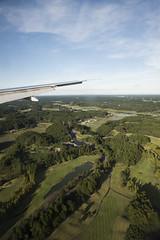 Sky and Green (yuichi.sakuraba) Tags: blue sky plane airplane ana scenery     allnipponairway