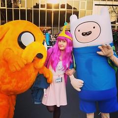 adventure time! (kiilea) Tags: pink dog hair jake princess time cosplay adventure human bubblegum finn pyrkon