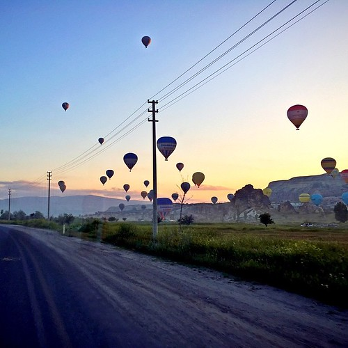 Early Morning drives to remember [Plate 2];  #Cappadocia #HotAirBalloon