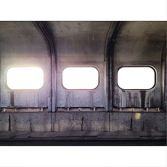 Waiting for the train. #yorkdale #toronto... (ahockridge) Tags: new old windows toronto ontario canada station shop wall train mall shopping subway grey cool waiting metro ttc tracks transit walls panels yorkdale uploaded:by=flickstagram instagram:photo=9330561240959717061735848983